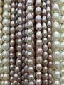 6 - 7 MM 50 unids/pack AA + púrpura de agua dulce Natural de la perla del grano Loos Strands granos de la joyería