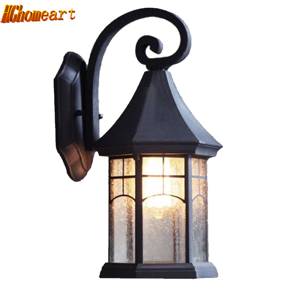 Retro Wall Lamp European Waterproof Outdoor Lighting Creative Garden Lights Balcony Staircase Sconce Living Room Bedside Light iminovo simple led wall lamp bedside light aisle modern living room bedroom balcony corridor staircase european creative light