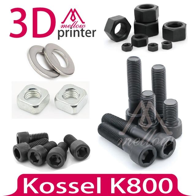 DIY Коссель K800 3d-принтер Гайки и Болты Винт Полный Комплект, машина винт гайка контргайка