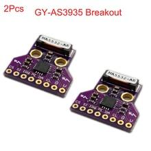 2 pces GY AS3935 as3935 breakout light ning detector digital sensor placa módulo spi i2c trovão detecção de distância tempestade fz3480