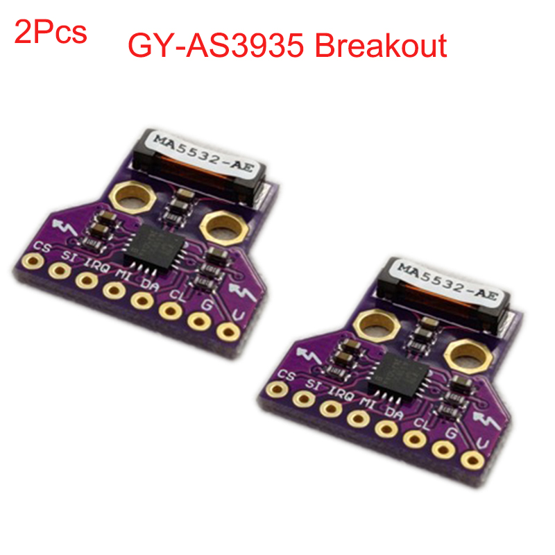 2Pcs GY-AS3935 AS3935 Breakout Light-ning Detector Digital Sensor Board Module SPI I2C Thunder Storm Distance Detection FZ3480