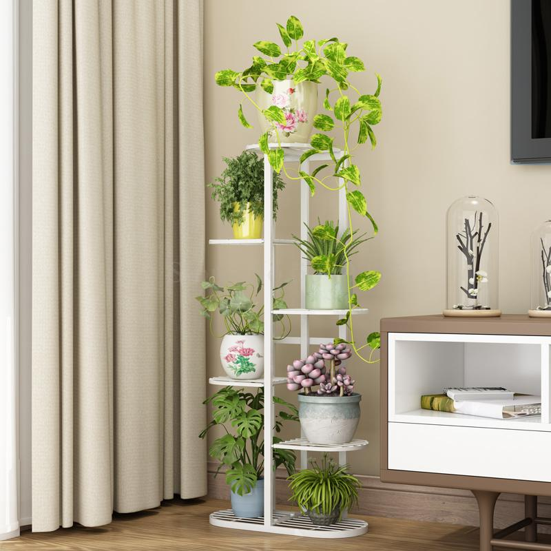 Flower-Pot Balcony-Rack Multi-Storey Floor-Standing Space Living-Room Wrought-Iron Indoor