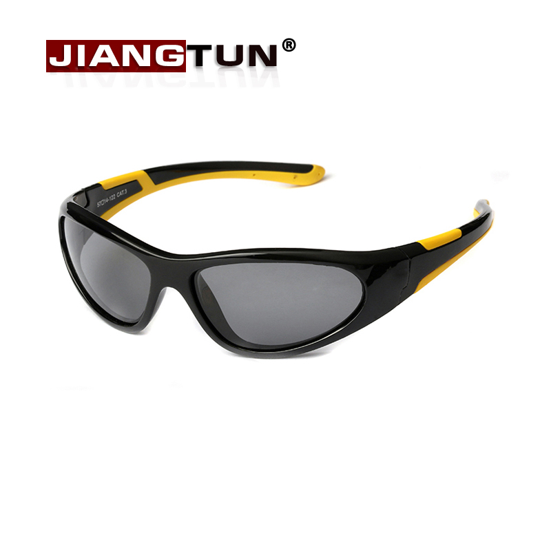 JIANGTUN Quality Kids Sunglasses Polarized Child Sun Glasses Baby Boys Vintage Eyewear Bicolor Oculos Infantil high quality iron wire frame sun glasses women retro vintage 51mm round sn2180 men women brand designer lunettes oculos de sol