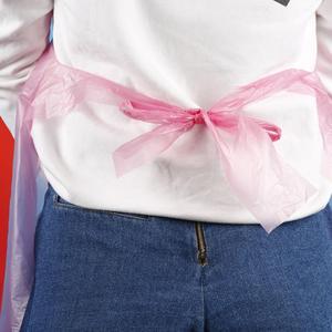 Image 5 - 100 pcs נשים סינרי טהור צבע חד פעמי צוואר רצועת סינר עמיד למים מסעדת בית מטבח סינר