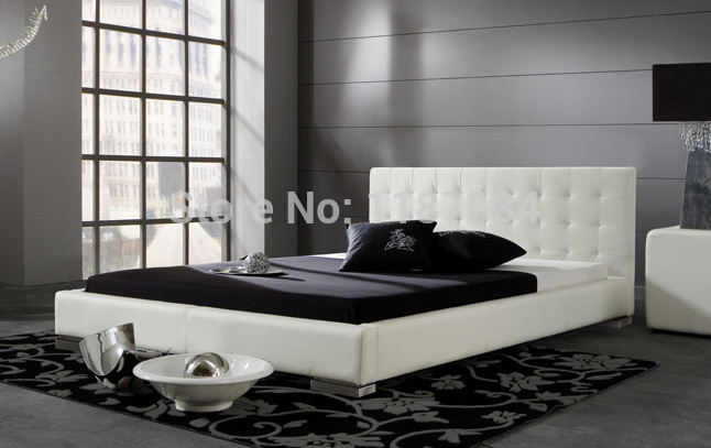 Bedroom furniture king size large soft bed leather comfortable bed B213 simple leisure contemporary modern leather bed king size bedroom furniture made in china