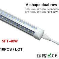 V Shaped Integrate T8 LED Tube 1500MM 2 4 5 6 8 Ft Feet LED Fluorescent