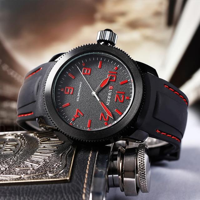 Curren Relojes Hombre left-hander Wrist watch quartz men luxury famous brand Quartz Clock Vogue men Wristwatch rubber new 1