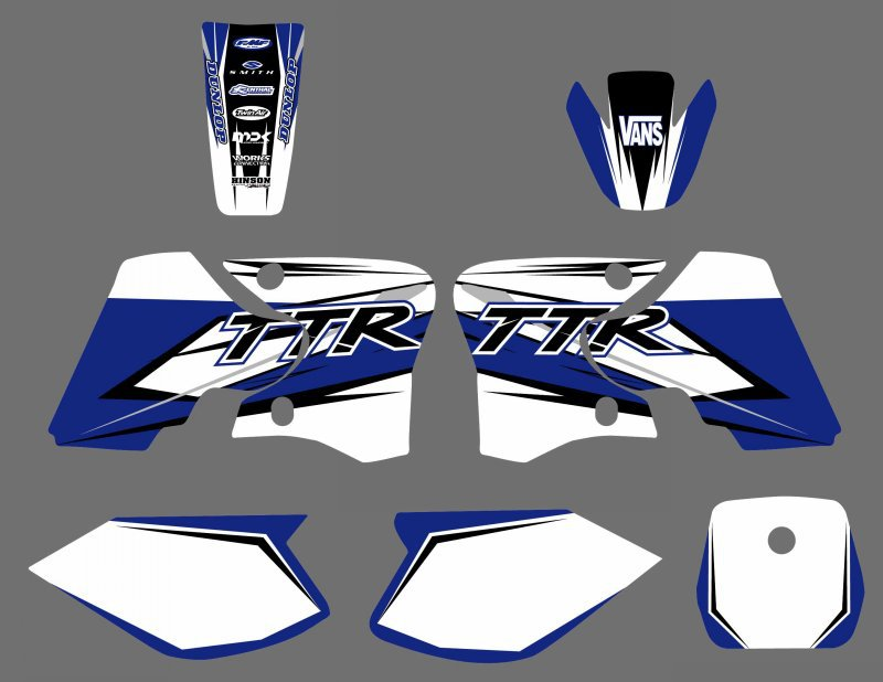 US $44 09 10% OFF 0569 NEW STYLE TEAM GRAPHICS&BACKGROUNDS DECAL STICKERS  Kits for Yamaha TTR90 TTR 90 2000 2001 2002 2003 2004 2005 2006 2007-in