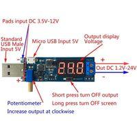 dc 12v DC-DC 1Ps Usb Step Up / Down Power Supply Module Boost באק ממיר 5V כדי 3.3V / 12V (2)