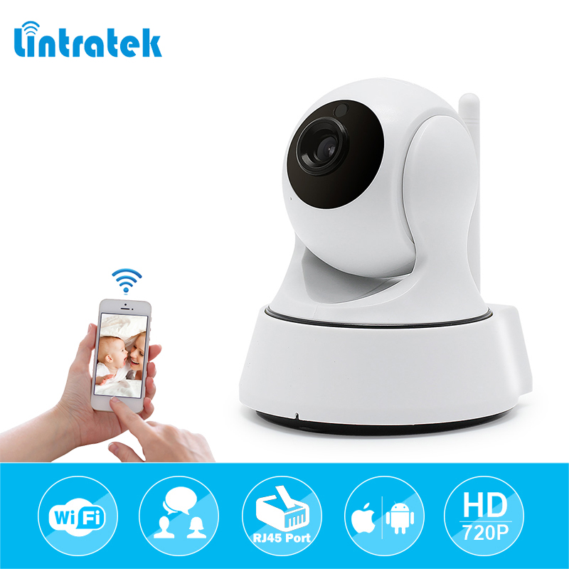 lintratek 720P HD Wireless Wifi IP Camera Home Security Surveillance Camera Onvif P2P IR-Cut P/T Night Vision CCTV Indoor Camera wifi ip camera wi fi mini cctv onvif p2p wireless hd 720p security home surveillance camera night vision hd ip cam lintratek