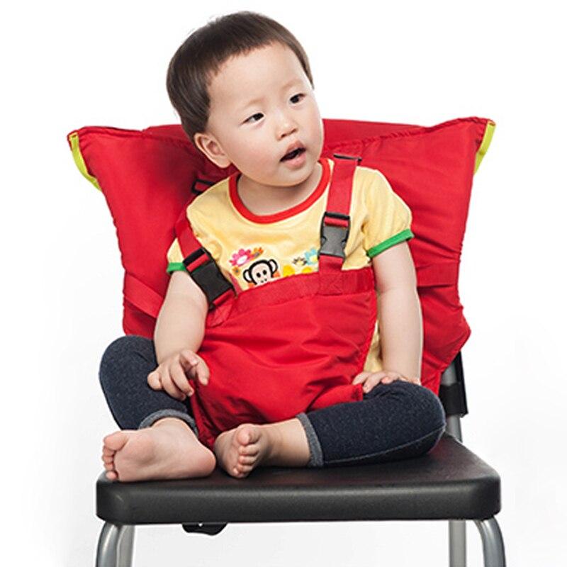 Asiento de bebé portátiles niños Alimentación silla para niño infantil Seguridad cinturón asiento Alimentación trona arnés portador bb0029