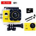 Estilo gopro hero 4 f60 wifi 4 k câmera de ação com controle Remoto Capacete De Mergulho Mini Cam ir pro Esporte À Prova D' Água câmera