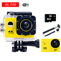 gopro hero 4 style F60 Wifi 4K Action Camera With Remote Controller Helmet Diving Mini Cam go Waterproof pro Sport Camera