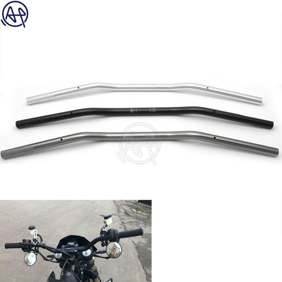 Motorcycle 7//8 Handlebars Aluminium 22 mm Handle Bar for Chopper Cruiser Custom Bike Black