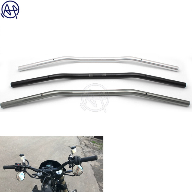 Universal For Suzuki Custom Motorcycle Handlebar 7/8″ 22mm Chopper Cafe Racer Handlebar High-Rise Drag Bar Cruiser Bobber