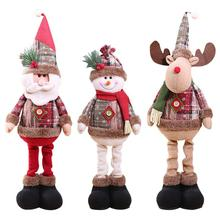 Christmas Decorations Dolls Doll Tree Innovative Santa Snowman Window Deco