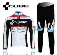 CUBE 2012 Team Long Sleeve Autumn Cycling Wear Clothes Bicycle Bike Riding Cycling Jerseys Pants Ropa