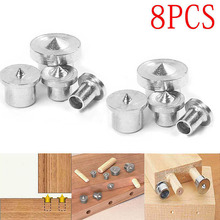 цены 8Pcs Dowel Joint Alignment Tool Center Point Pin Set Woodworking Craft Clamp Steel Tools 6/8/10/12mm