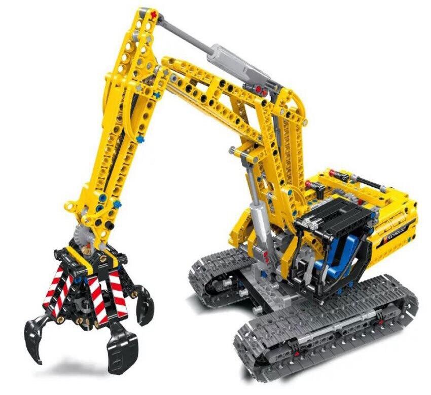 En stock 38014 Ville Technique 720 pièces Pelle 2 Dans 1 D'ingénierie Camion blocs de construction Compatible Legoings Technique Jouets