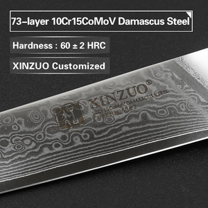 "Image 2 - XINZUO 3.5 ""אינץ קילוף סכין יפן דמשק VG10 פלדה החדש פירות קולפן סכין מטבח סכין אולטרה שארפ עם Rosewood ידית"