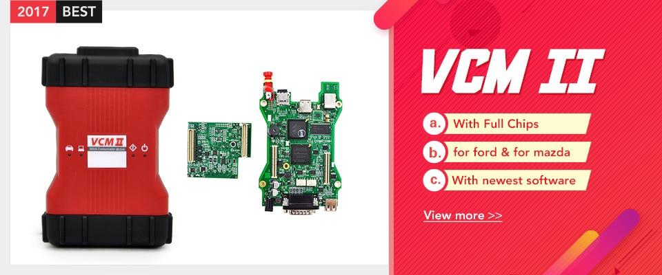2017 New Arrivals V100 VCM II Car Diagnostic Tool VCM2 for Ford obd2 tool  vcm 2 ids for Mazda High quality free shipping
