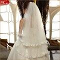 2016  veil bridal veil wedding accessories double layer lace veil big decoration