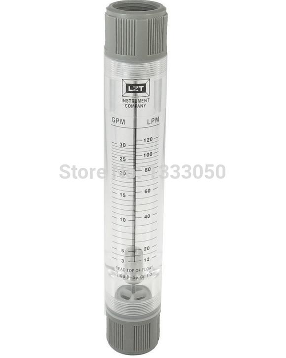 Free Shipping Water Liquid Flow Meter Tool Flowmeter Instrument 3-30 GPM 12-120 LPM