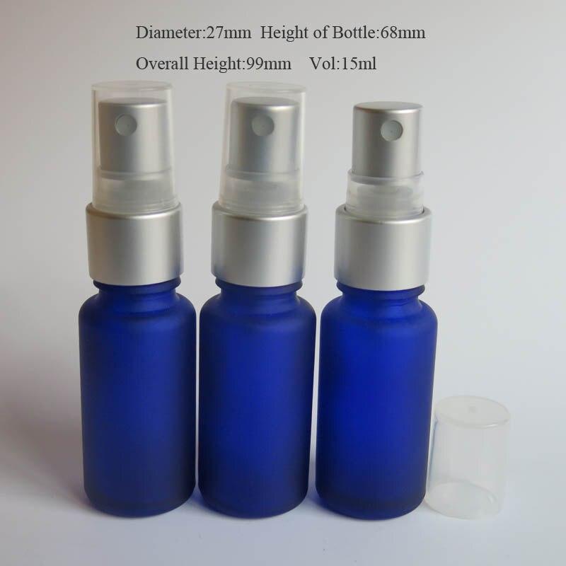 Refillable Perfume Bottle Macy S: Wholesale 100pcs Empty Mini 15ml Blue Frost Refillable Perfume Atomizer Bottle ,15 Ml Glass