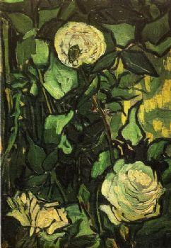 Rozen en kever-vincent van gogh olieverf-bloemen canvas muur foto voor woonkamers, dinning kamers, Slapen kamers