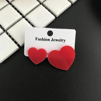 Women's Minimalist Style Transparent Geometric Earrings Earrings Jewelry Women Jewelry Metal Color: S 4 CM