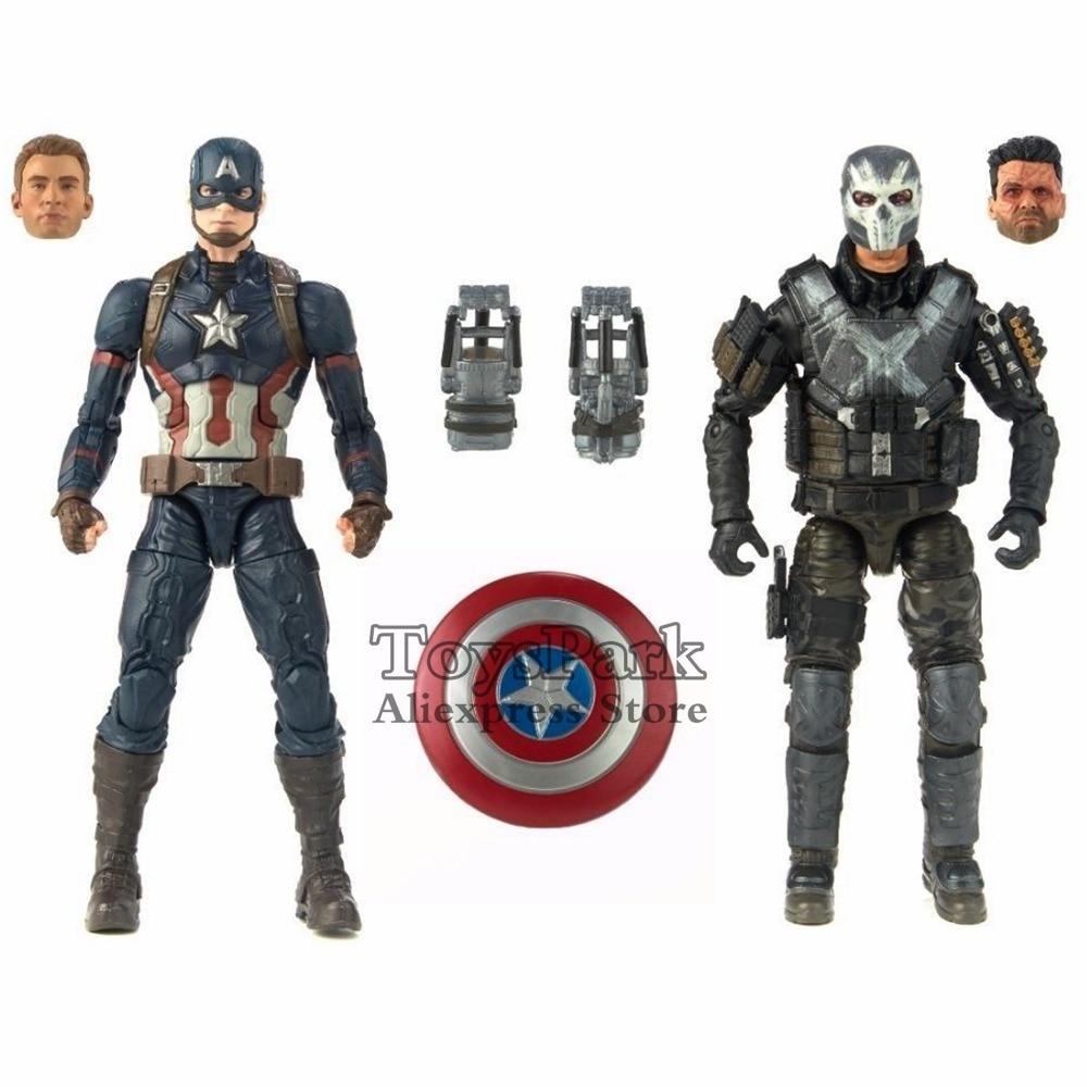 Marvel Legends 10th Anniversa 6 Captain America Crossbones 2 Pack Set Action Figure Marvel Studios Civil
