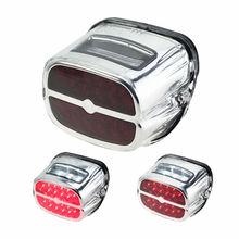 МОТОЦИКЛ хром светодиодный остановка тормозов задний светло-красный свет номерные знаки для мотоциклов лампа белый свет для Harley Fatboy Softail FLHT XL