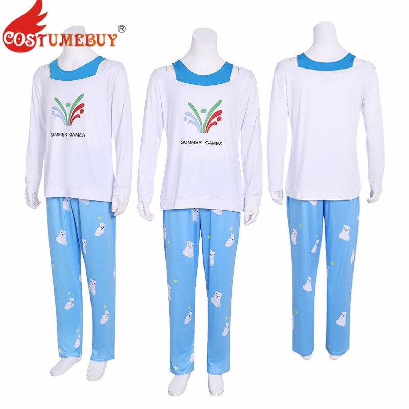 Costumebuy Game Ow Kawaii Mei Summer Games Sweater CG Rise and Shine Cosplay Pajamas Meiling Zhou Costume Mei Polar Bear Pants
