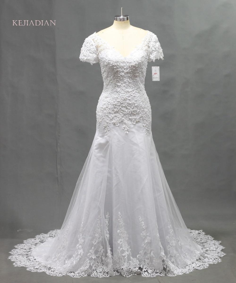 Robe De Mariage White Backless Lace A Line Wedding Dresses