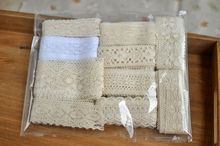 Freeshipping 5 styles random cotton lace Fabric/clothing materials textiles DIY