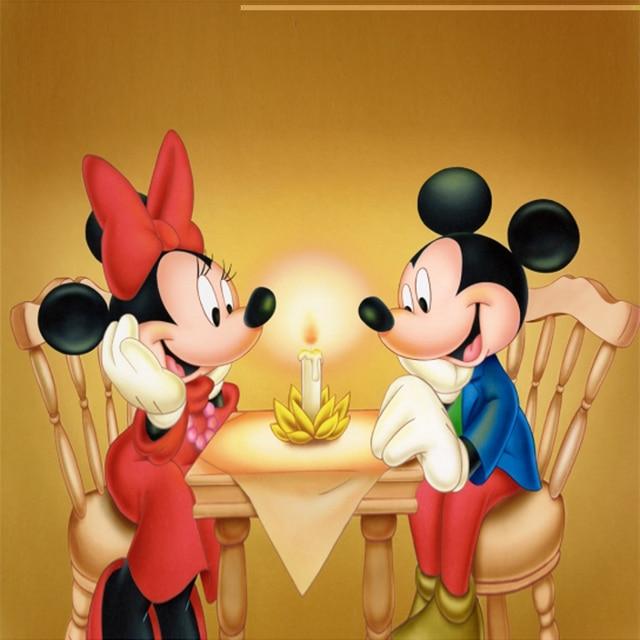 Modern Kawaii Dog Bear Mickey Mouse Princess Santa Claus Art Prints ...