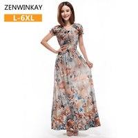 Ladies Boho Clothing Bohemian Hippie Dress Women Long Dresses Floor Length Casual Summer Dresses Maxi Plus