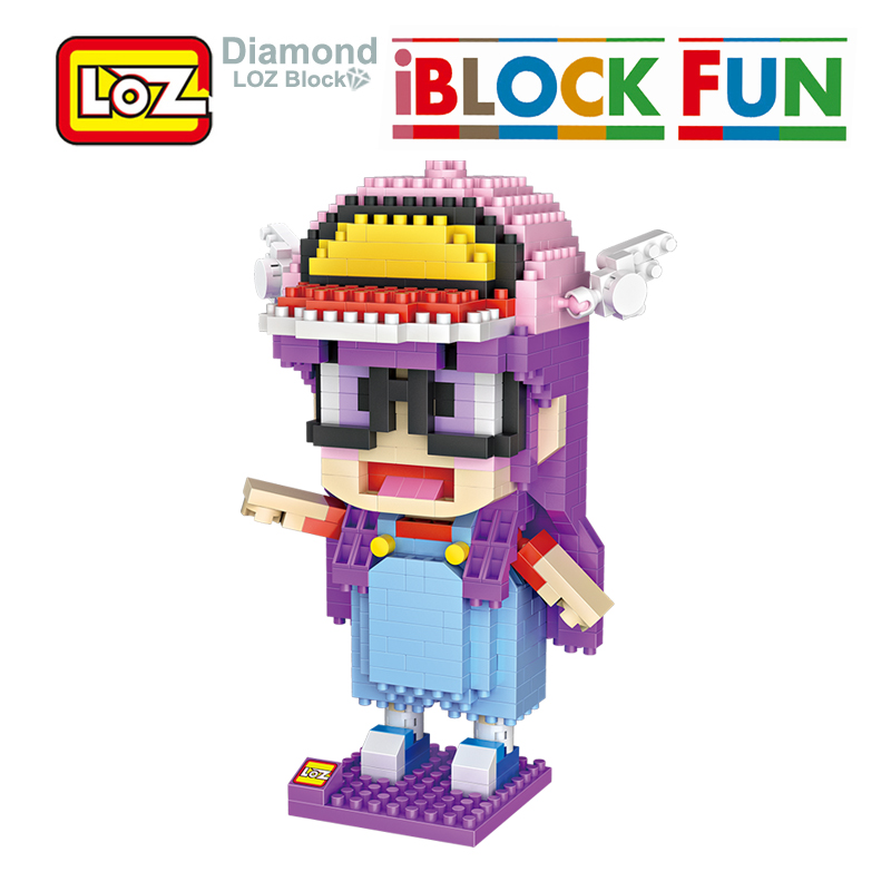 LOZ Arale Dr Slump Action Figure Toy Diamond Building Blocks Model Toys 700Pcs For Age 14+ Offical Authorized 9752 loz diamond blocks dans blocks iblock fun building bricks movie alien figure action toys for children assembly model 9461 9462