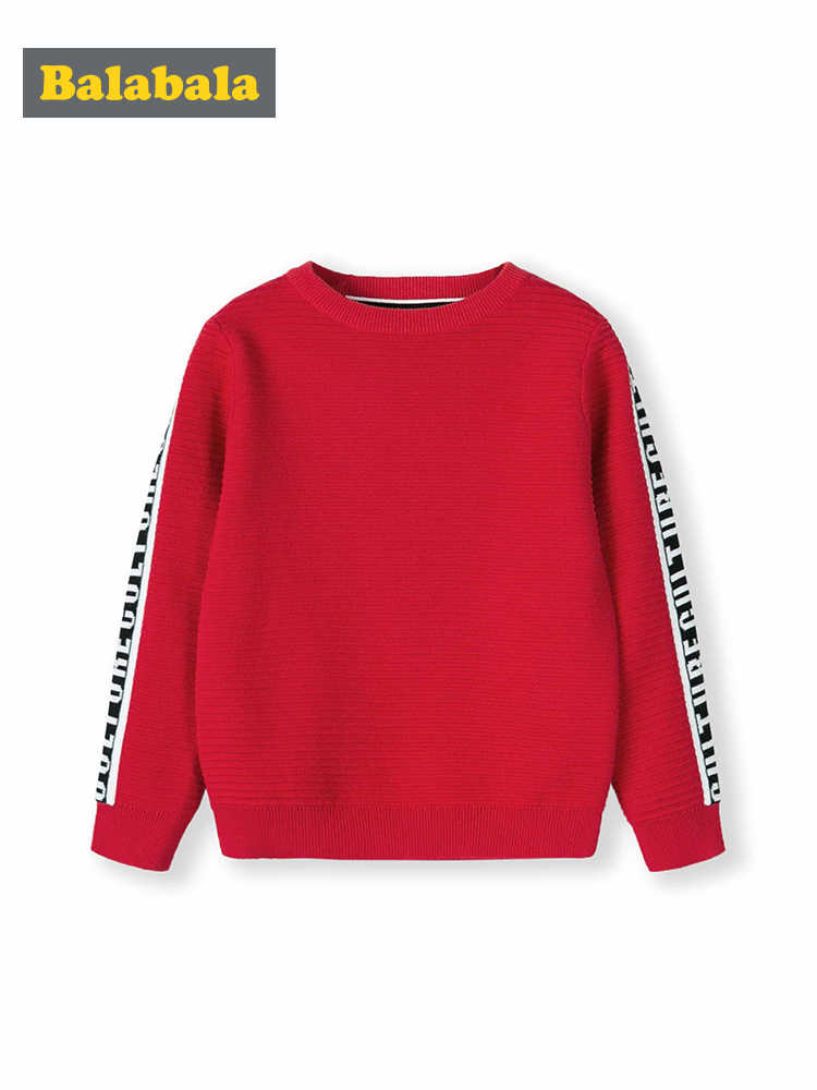 Balabala Baby sweater boy sweater cotton children 2019 new spring children's clothing head round neck sweater for boys