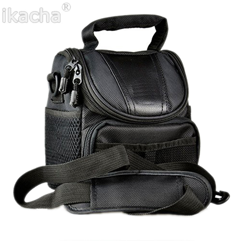 Black Camera Bag <font><b>Case</b></font> For <font><b>Canon</b></font> SX500 SX60 SX50 SX40 G15 G16 <font><b>G1X</b></font> Rebel T4i T3i T2i 650D 600D 550D 500D 1100D 18-55 lens image
