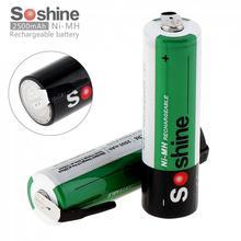 2 шт. Soshine 1,2 в 2500 мАч ni-mh аккумуляторная батарея с никелевым листом для отвертки/сверла