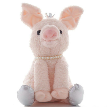 28cm Cute Electric The Sleepy Snoring Pig Electronic Sing Toy Soft Pig Stuffed Animal Plush Toy