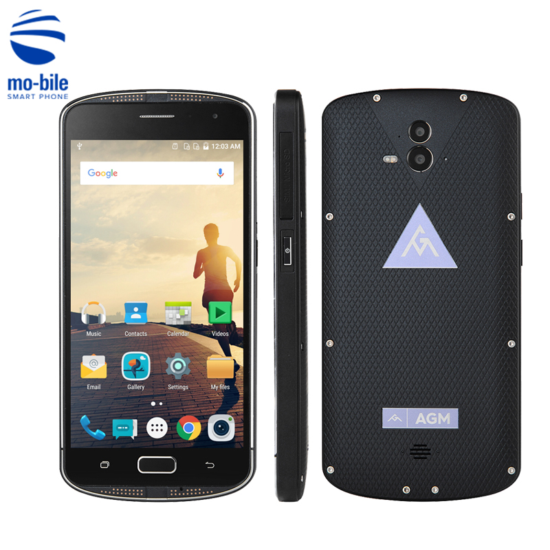 Цена за AGM X1 5.5 ''Qualcomm Octa Core Прочный Смартфон IP68 Водонепроницаемый 4 ГБ RAM 64 ГБ ROM 5400 мАч OTG NFC отпечатков пальцев Прочный Мобильный Телефон