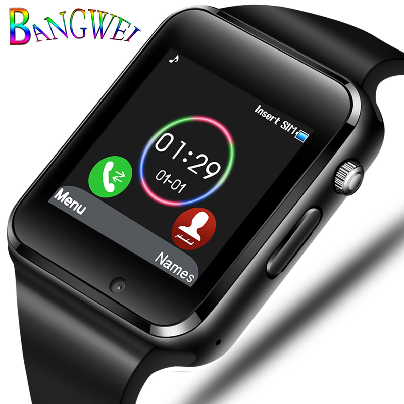 купить 2018 Smart Watch Men Support SIM TF Card Bluetooth Call Pedometer Sport Waterproof Smartwatch For Android IOS relogio masculino по цене 1291.27 рублей