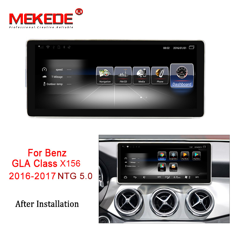 MEKEDE Car Multimedia Player 4G LTE 3+32G Android 7.1 Car DVD radio audio GPS player For Benz GLA Class X156 2016 2017 NTG 5.0