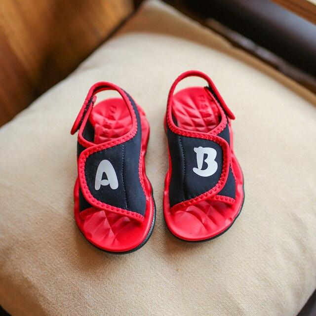 5cb96d8dac232 Hot SALE Boys Beach Sandals Children Shoes 2017 Summer New Design AB Print  Fashion Baby Girls Soft Shoes Kids Sandals Size 21-30
