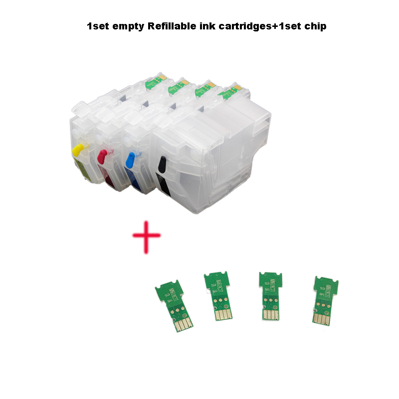 CISSPLAZA 1x Refill cartridge 1set chip LC3219 LC3217 For Brother MFC J5330DW J5335DW J5730DW J5930DW J6530DW
