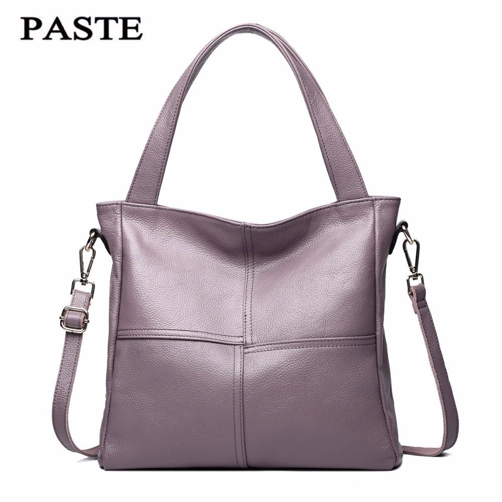 PASTE brand handbag women genuine leather bag female hobos shoulder bags high quality leather ON SALE 2018