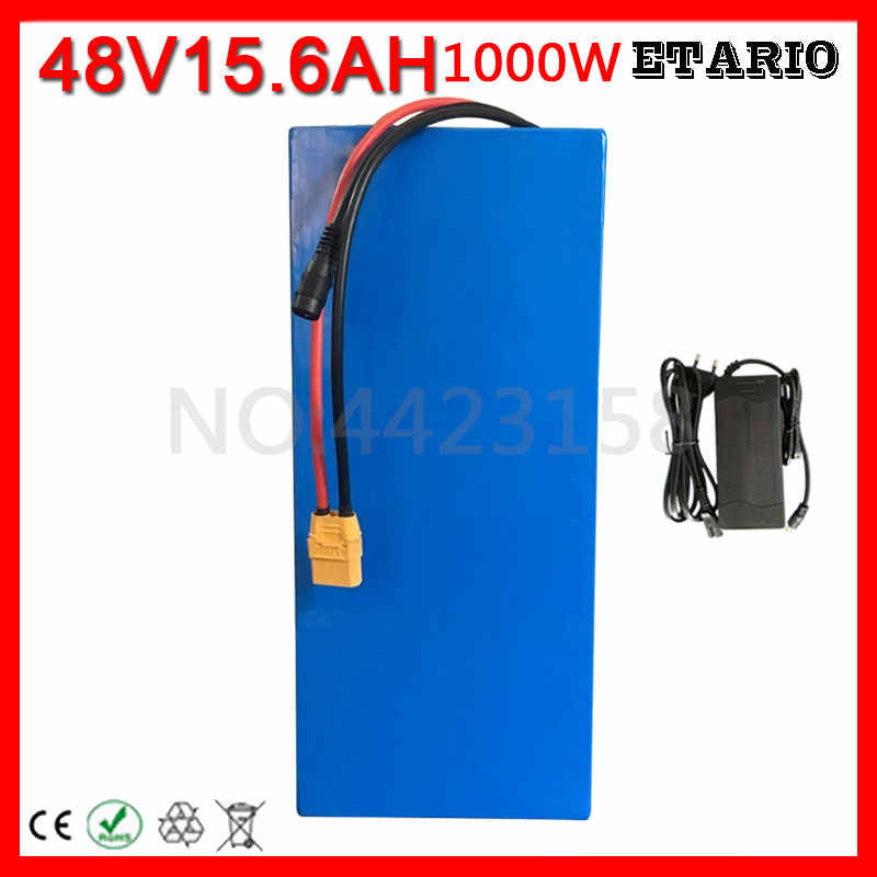 48V 15AH Battery pack 48V 15AH 1000W ebike battery 48v Scooter Lithium ion Battery with 30A BMS and 2A Charger Free Customs Fee