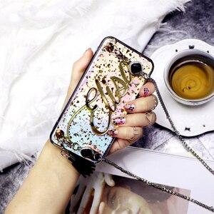 Image 4 - Original personalize o nome longo do floco do laser da corrente do metal capa macia do telefone para o iphone 11 pro 6 6s 7 8 mais x xs max xr 8 mais